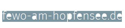 FeWo am Hopfensee