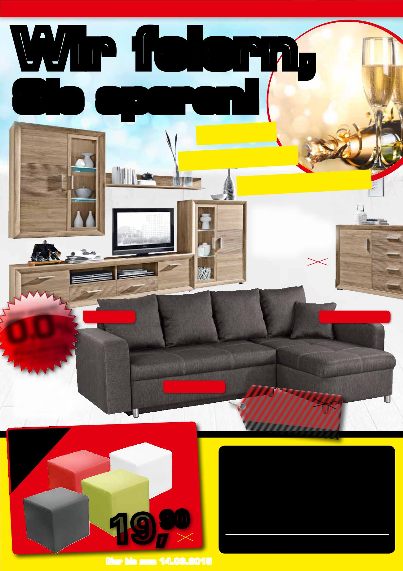 100 sofa mit ottomane 2755 2756 best interiors. Black Bedroom Furniture Sets. Home Design Ideas